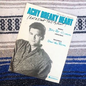 Billy Ray Cyrus 1991 Achy Breaky Heart Sheet Music